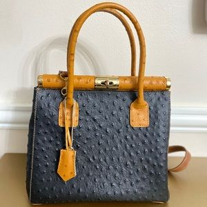 NWOTBorse in Pelle Crocodile print leather handbag